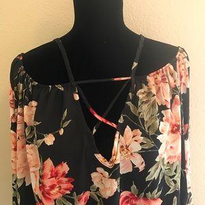 Criss cross blouse
